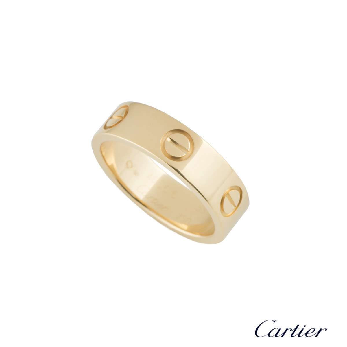 Cartier Yellow Gold Love Ring Size 57B4084600